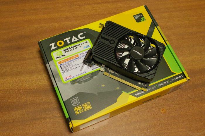 「ZOTAC GeForce GTX 1050 2GB Mini」秋葉原のドスパラパーツ館で15,000円で購入。