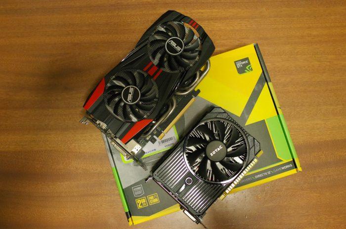 GTX760とGTX1050を比べると、GTX1050のコンパクトさがよりわかると思います。しかも外部電源がいらない!